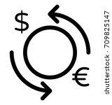 foreign exchange vector icon | Shutterstock .eps vector #709825147