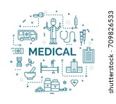 lettering of medical concept... | Shutterstock .eps vector #709826533