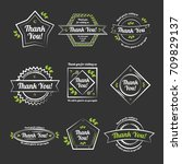 thank you badges | Shutterstock .eps vector #709829137