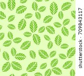 seamless vector pattern with... | Shutterstock .eps vector #709843117