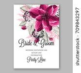 watercolor burgundy flowers for ...   Shutterstock .eps vector #709843297