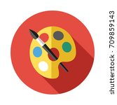 art palette icon in flat style... | Shutterstock .eps vector #709859143