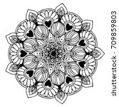 mandalas for coloring book.... | Shutterstock .eps vector #709859803