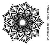 mandalas for coloring book.... | Shutterstock .eps vector #709859827