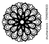 mandalas for coloring book.... | Shutterstock .eps vector #709859833