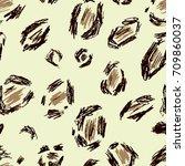beige  black  brown leopard... | Shutterstock . vector #709860037