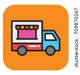 food truck vector icon | Shutterstock .eps vector #709870267