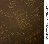 gas boiler in the room. hvac... | Shutterstock .eps vector #709870393