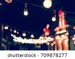 selective focus on light bulbs... | Shutterstock . vector #709878277