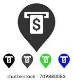 cash machine pointer icon.... | Shutterstock .eps vector #709880083