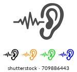 hearing signal vector... | Shutterstock .eps vector #709886443