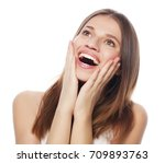 attractive young  woman smile... | Shutterstock . vector #709893763