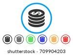 dollar coin column rounded icon.... | Shutterstock .eps vector #709904203