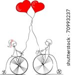 love boy and girl ride a... | Shutterstock .eps vector #70993237