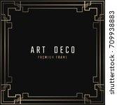 vector card. art deco style.... | Shutterstock .eps vector #709938883