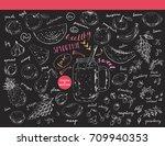 hand drawn sketch fruits ...   Shutterstock .eps vector #709940353