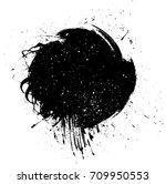 grunge paint stripe. vector... | Shutterstock .eps vector #709950553