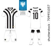 set of short sleeve soccer... | Shutterstock .eps vector #709951057