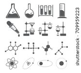 chemistry icon concept  beaker... | Shutterstock .eps vector #709959223