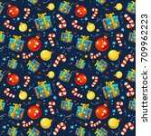 pattern with traditional new... | Shutterstock .eps vector #709962223