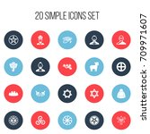 set of 20 editable faith icons. ...