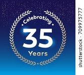 35 years anniversary badge ... | Shutterstock .eps vector #709975777