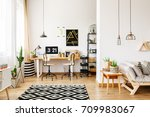 contemporary room in... | Shutterstock . vector #709983067
