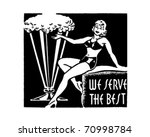 we serve the best   retro ad... | Shutterstock .eps vector #70998784