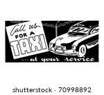 call us for a taxi 2   retro ad ... | Shutterstock .eps vector #70998892