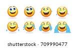 cartoon emoji animation...   Shutterstock .eps vector #709990477