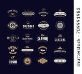 vector logos and emblems for... | Shutterstock .eps vector #709991983