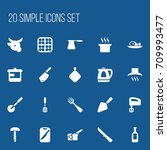 set of 20 editable food icons....