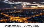 city business downtown aerial... | Shutterstock . vector #709996807