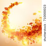 shining autumn background with... | Shutterstock .eps vector #710000023
