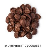 cereal chocolate flakes... | Shutterstock . vector #710000887