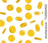 flying gold euro seamless... | Shutterstock .eps vector #710004403