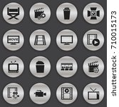 set of 16 editable cinema icons....