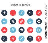 set of 20 editable equipment...