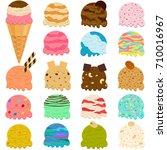 cute vector illustration set of ... | Shutterstock .eps vector #710016967
