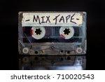 mixed tape. mixed cassette... | Shutterstock . vector #710020543