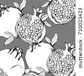 garnet hand drawn  on a... | Shutterstock .eps vector #710023423