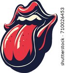 lips and tongue | Shutterstock .eps vector #710026453