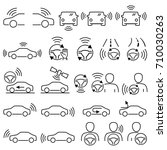 car accessory navigation system ... | Shutterstock .eps vector #710030263