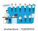 set of young businessman...   Shutterstock .eps vector #710039923