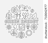 green energy outline... | Shutterstock .eps vector #710042977