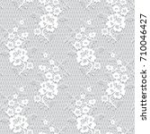 seamless vector white lace...   Shutterstock .eps vector #710046427