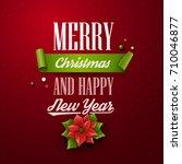 christmas background. vector...   Shutterstock .eps vector #710046877