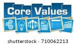 core values business symbols... | Shutterstock . vector #710062213