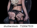 rich man grab sexy blonde lover ... | Shutterstock . vector #710067523