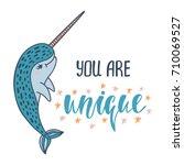 you are unique. handwritten...   Shutterstock .eps vector #710069527